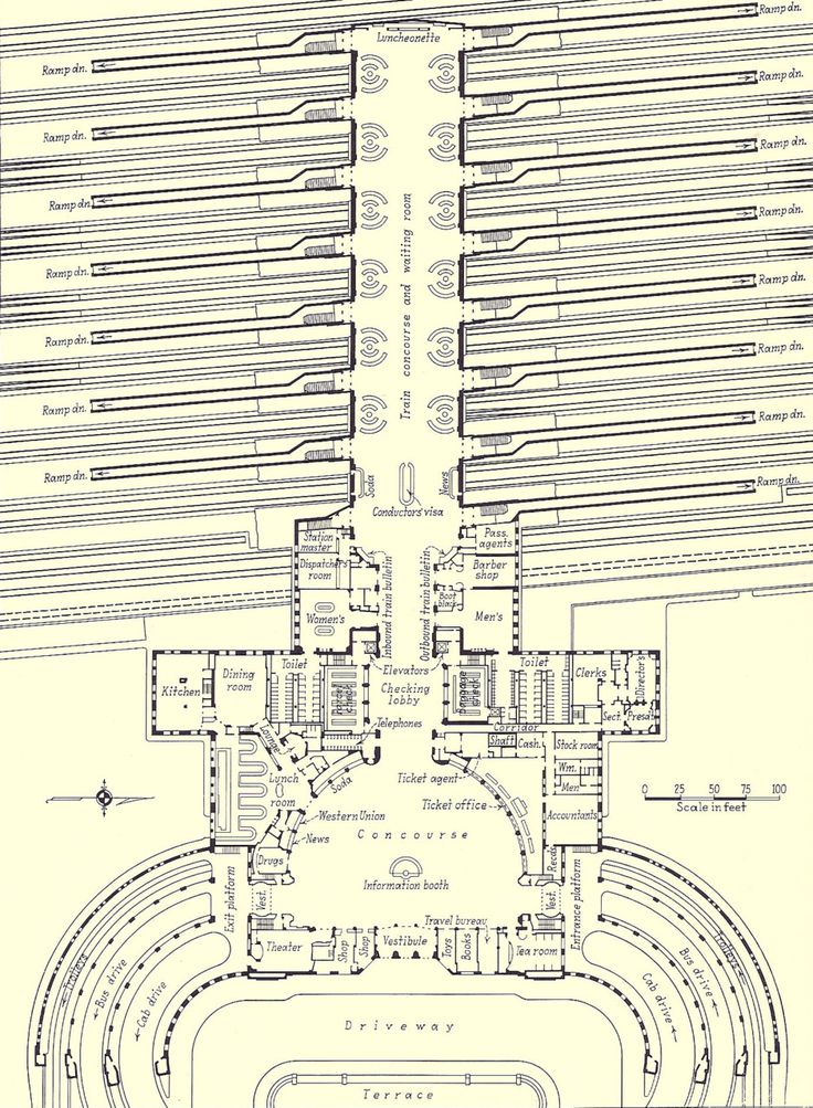24 best architectural layouts images on pinterest floor plans archimaps floor plan for union terminal in the 1930s cincinnati malvernweather Image collections
