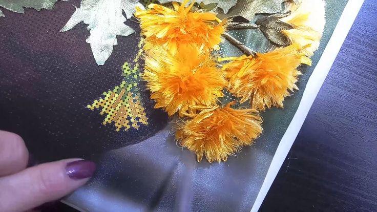 Вышивка лентами(одуванчики)