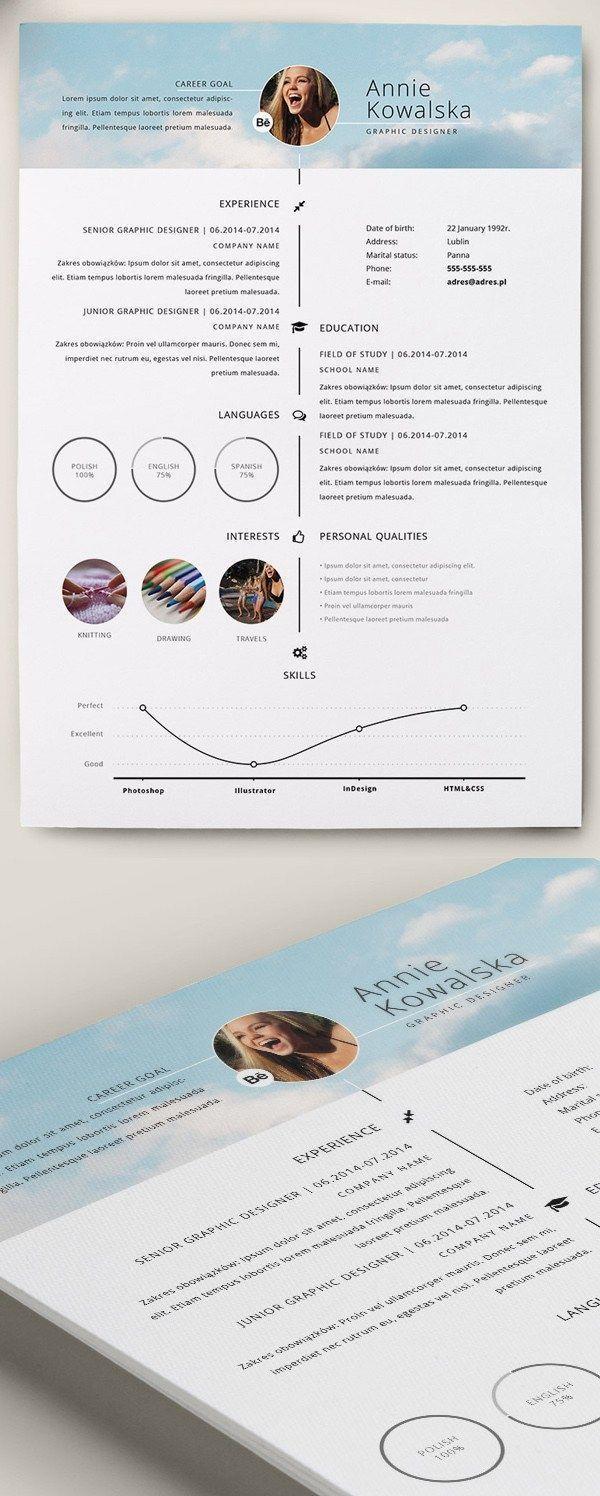 Free Minimalistic Resume Cv Timeline Template Resumedesignfree Cv Kreatif Riwayat Hidup Kreatif