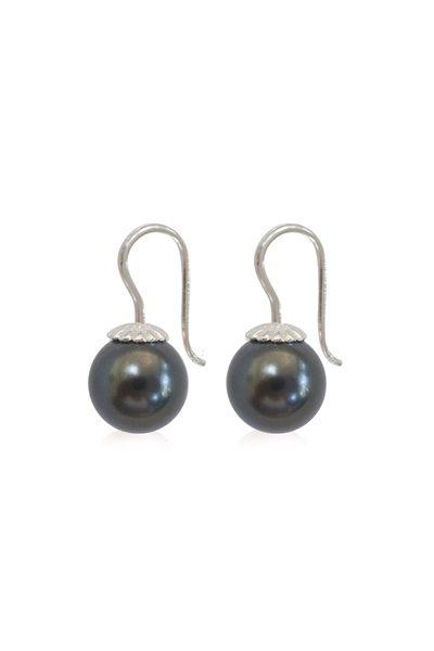 """Romantic øreringe med Swarovski perler i """"crystal Black pearl"""""""