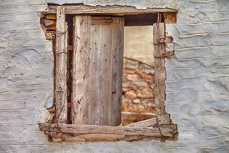 Old Barn  Window - Rural rustic withered barn window