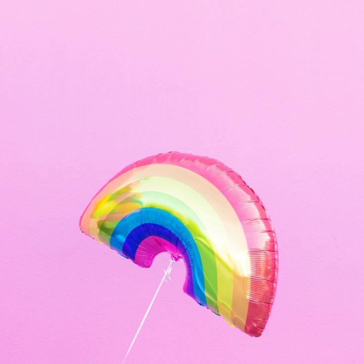 Mylar Rainbow Balloon  at Studio DIY