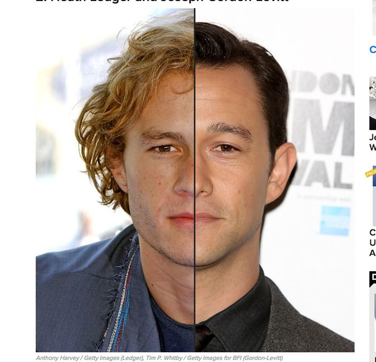 17 Celebrities Who Share The Same Face Some of these are spot on, but a few are nonsense