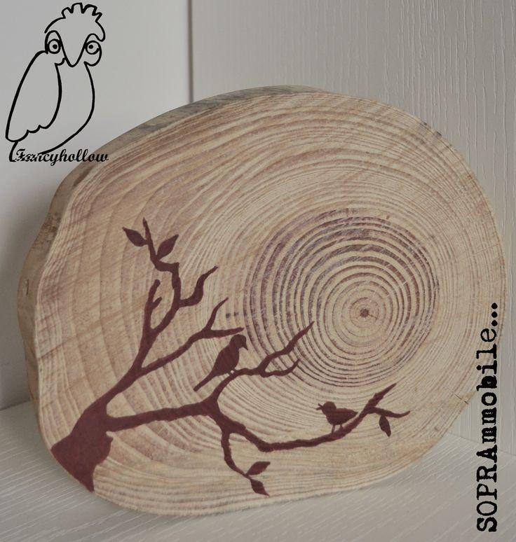 #soprammobile - #sottopentola con ramo di pino