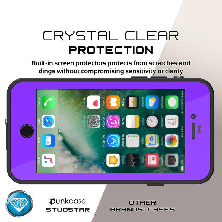 iPhone 7Waterproof Case, Punkcase [Puple] [StudStar Series] [Slim Fit] [IP68 Cer…