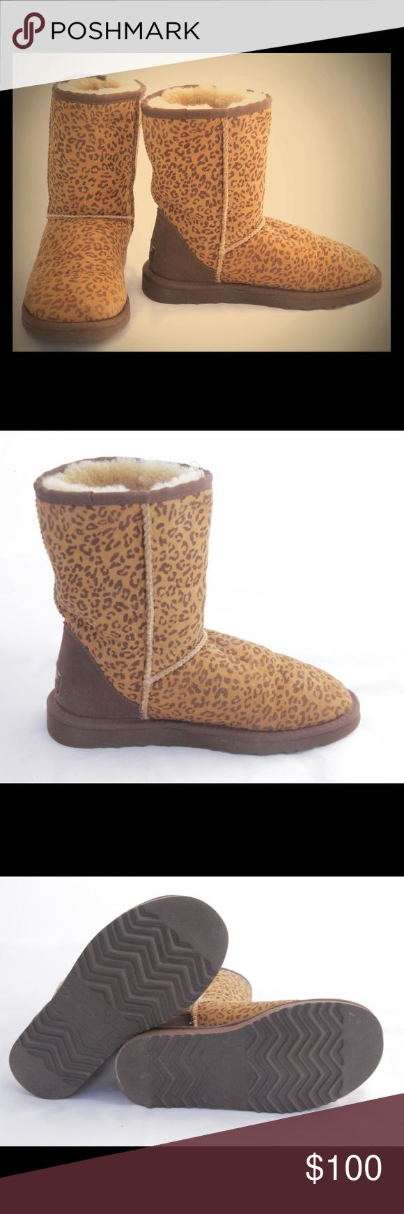 UGG boots Leopard print UGG boots - short, original UGG Shoes Winter & Rain Boots