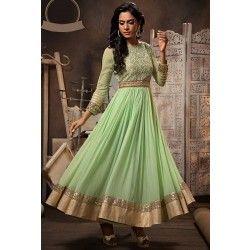 Marvelous Mint Green Anarkali Suit