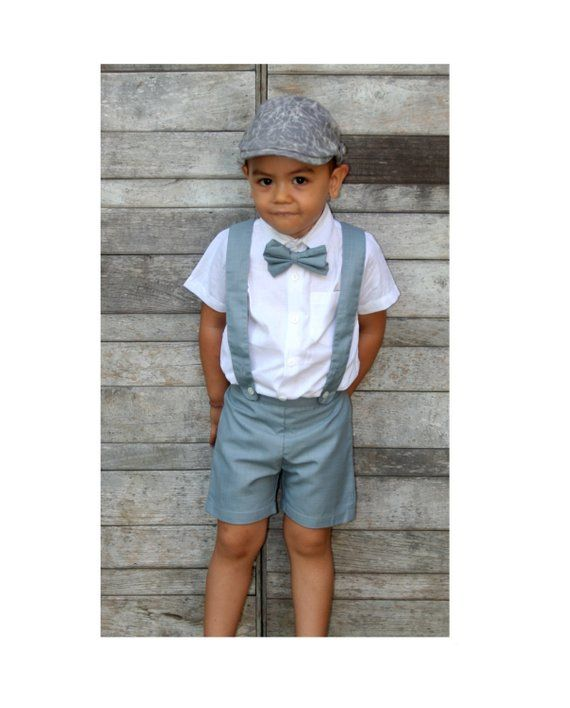 Christening Outfit Linen Shorts,Page Boy Baptism White Boy Suspender Shorts Shorts with Braces,Wedding Outfit Linen Pants,Ring Bearer