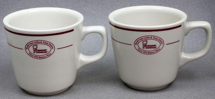 Set of 2 1960's Era Mister Donut World's Best Coffee   Mugs