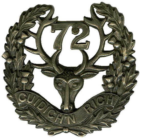 "CEF - Cap Badge - 72nd Canadian Infantry Battalion -  ""Seaforth Highlanders"" - Vancouver, British Columbia. WW1."