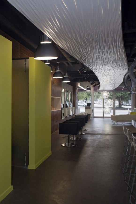 Hair Salon ceiling interior design