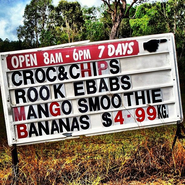 Why FNQ Rocks: Croc & Chips, Roo Kebabs and Mango Smoothies!