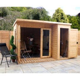 Mercia Large Combi Wooden Summerhouse 10x8ft Cabin And