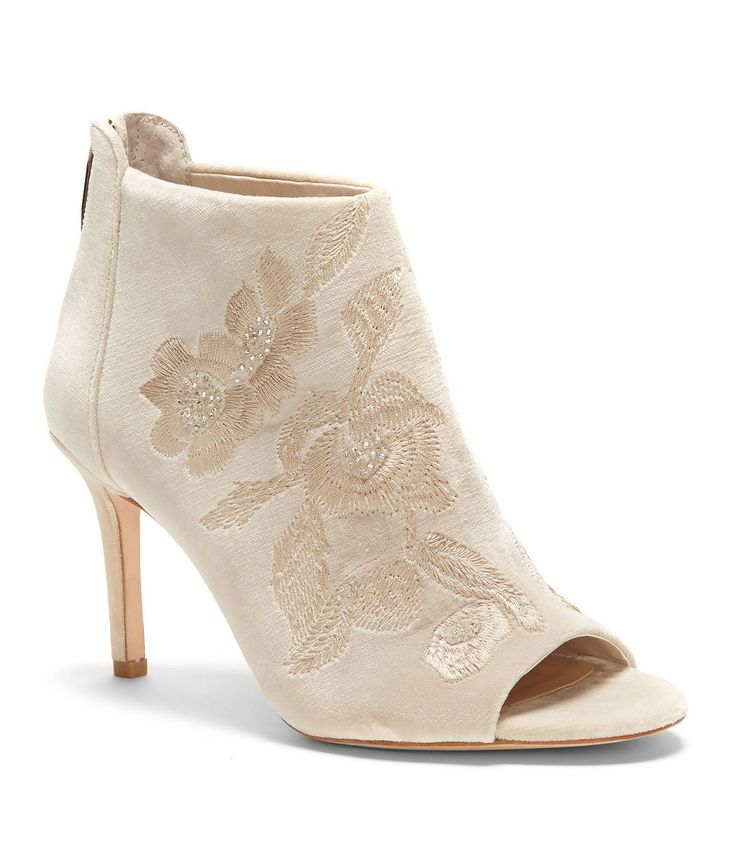 Shop for Imagine by Vince Camuto Padget Velvet Embroidered Peep Toe Booties at Dillards.com. Visit Dillards.com to find clothing, accessories, shoes, cosmetics & more. The Style of Your Life.