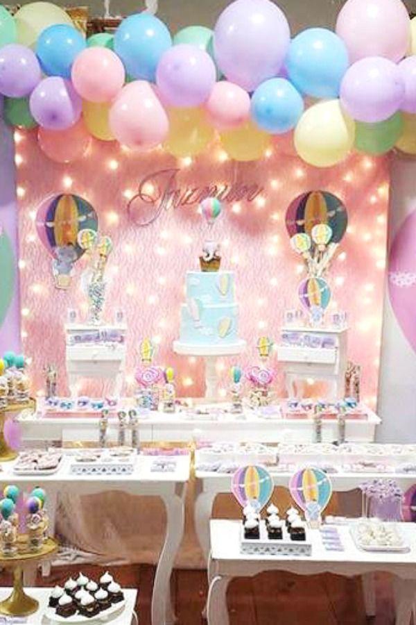 Globos Aerostaticos Birthday Party Ideas Photo 1 Of 20 Hot Air Balloon Party Decorations 1st Birthday Party For Girls Hot Air Balloon Party