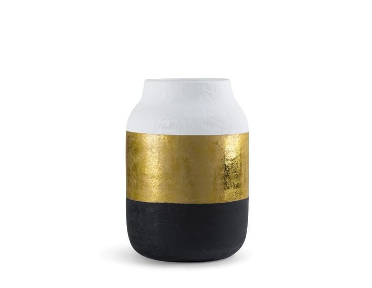 MARGOT - Ceramic vase 13.5'' - Gold