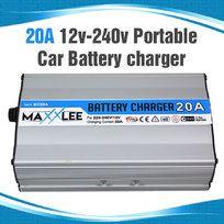 20A Power Portable Car Battery Charger 4WD Boat Caravan Motorcycle 12v 240v 20Amp