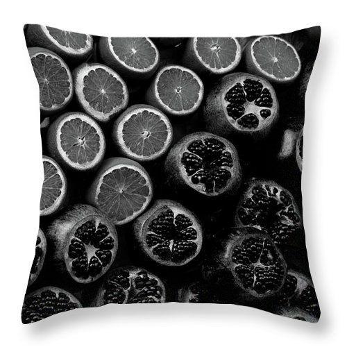 Fruits Black And White By Svetlana Yelkovan #SvetlanaYelkovanFineArtPhotography #pillow  #ArtForHome #FineArtPrints #fruits