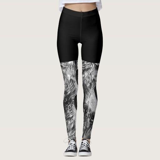 Creative designers leggings / Night black