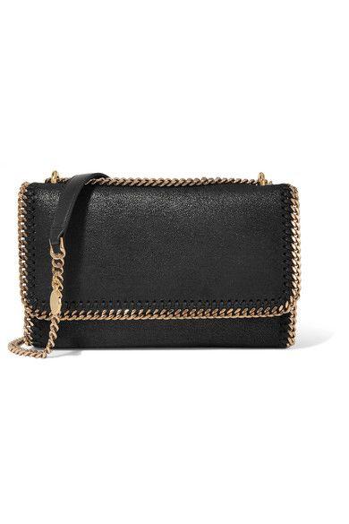 Stella McCartney - Falabella Faux Brushed-leather Shoulder Bag - Black - one size