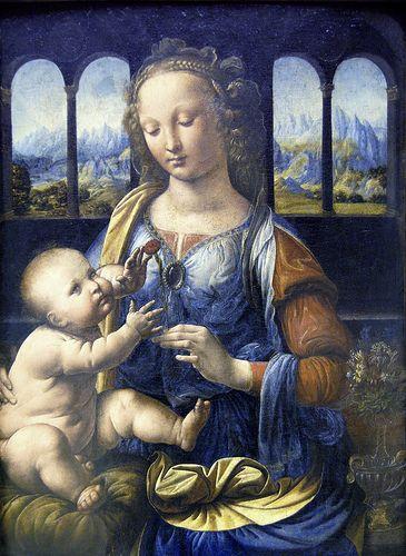 "Leonardo da Vinci - Madonna of the carnation""  LEONARDO DA VINCI Leonardo di ser Piero da Vinci (Vinci, 15 aprile 1452 – Amboise, 2 maggio 1519)  #TuscanyAgriturismoGiratola"