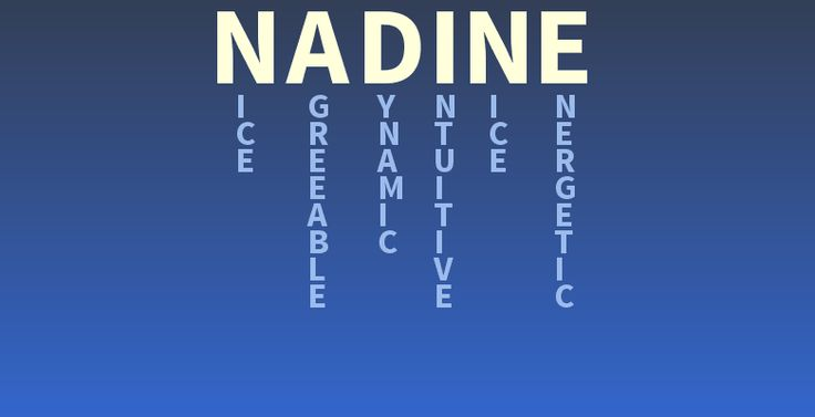 Your Name Nadine What Does Your Name Mean In My