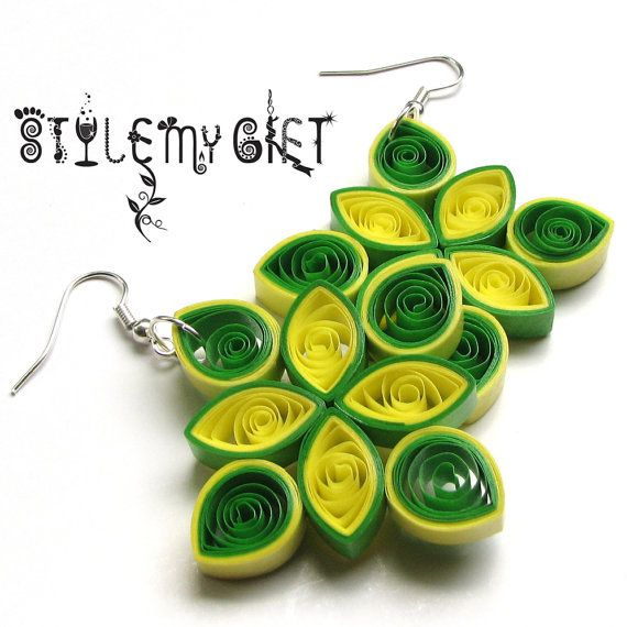 Diamond Drops Paper Quilled Earrings by StyleMyGift on Etsy, $10.00