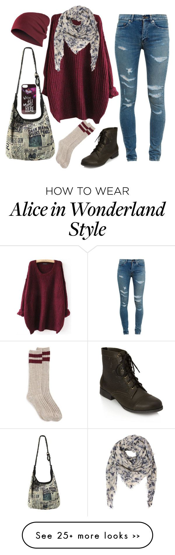 """""""Me in the Autumn"""" by krazybookfangirl on Polyvore featuring Yves Saint Laurent, Forever 21 and Disney"""
