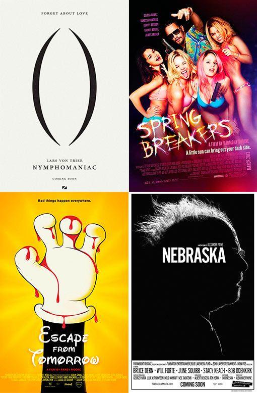 Mejores diseños de carteles de cine en 2013.