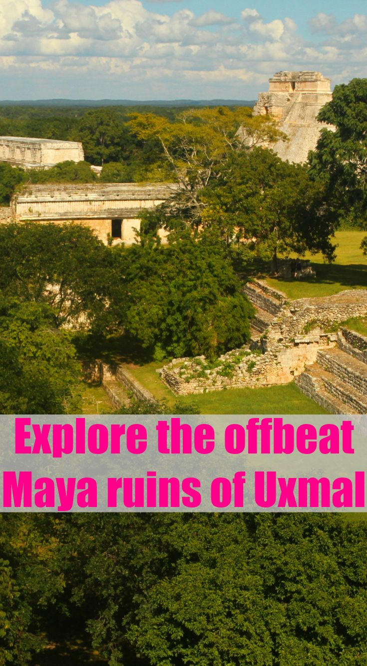 Discover the non-touristy and well preserved hidden Maya ruins of Uxmal on the Yucatan Peninsula, Mexico.