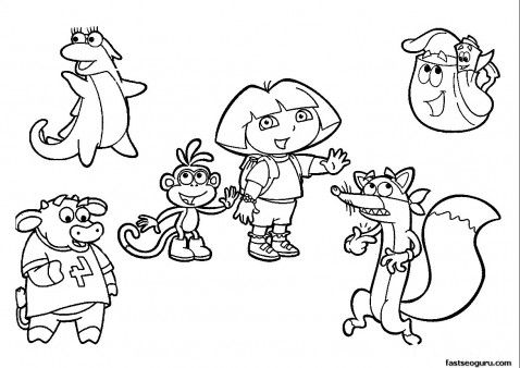 picture about Dora Printable Coloring Pages named Pin upon Young children Coloring Printables
