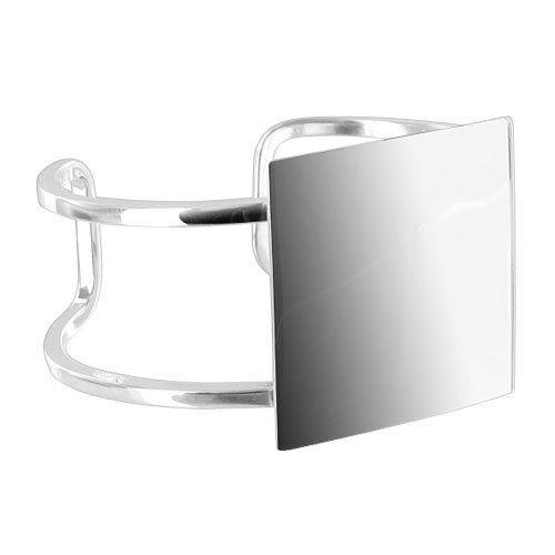 .925 Sterling Silver 23mm Wide Engravable Cuff Bracelet Gem Avenue. $144.99. Gem Avenue SKU # BDBS036. 23mm Width. Made of Sterling Silver. Engravable Silver Cuff Bracelet. 2mm Per Band. Save 51%!
