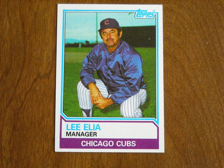 Lee Elia Manager Chicago Cubs Card No. 456 (BC456) Topps 1983 Baseball Card - for sale at Wenzel Thrifty Nickel ecrater store