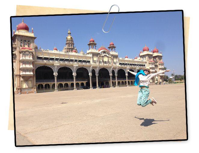 María León en el Palacio de Mysore