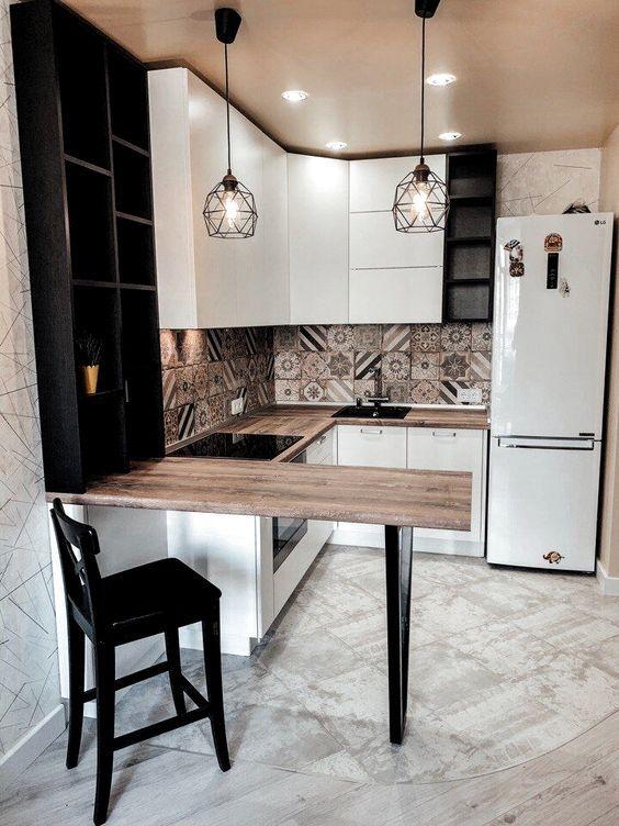 RENUEVA TU COCINA PEQUEÑA con estos 5 TIPS - NO gastes DINERO Kitchen Room Design, Home Room Design, Modern Kitchen Design, Kitchen Layout, Home Decor Kitchen, Interior Design Kitchen, Kitchen Furniture, Home Kitchens, Very Small Kitchen Design
