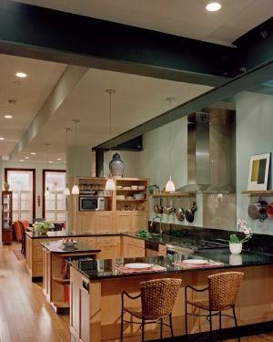 Get a virtual kitchen designer:U Shape Virtual Kitchen Designer  Pictures Of Virtual Kitchen Designer With Woven Rattan Barstools by lissandra.villano