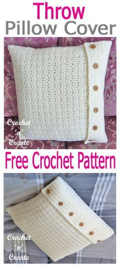 Throw Pillow Cover Free Crochet Pattern | Crochet ideas | Pinterest ...