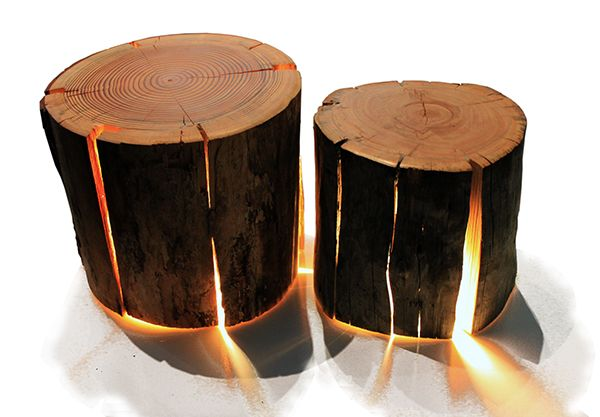 how to make cracked log lamps - Google Search