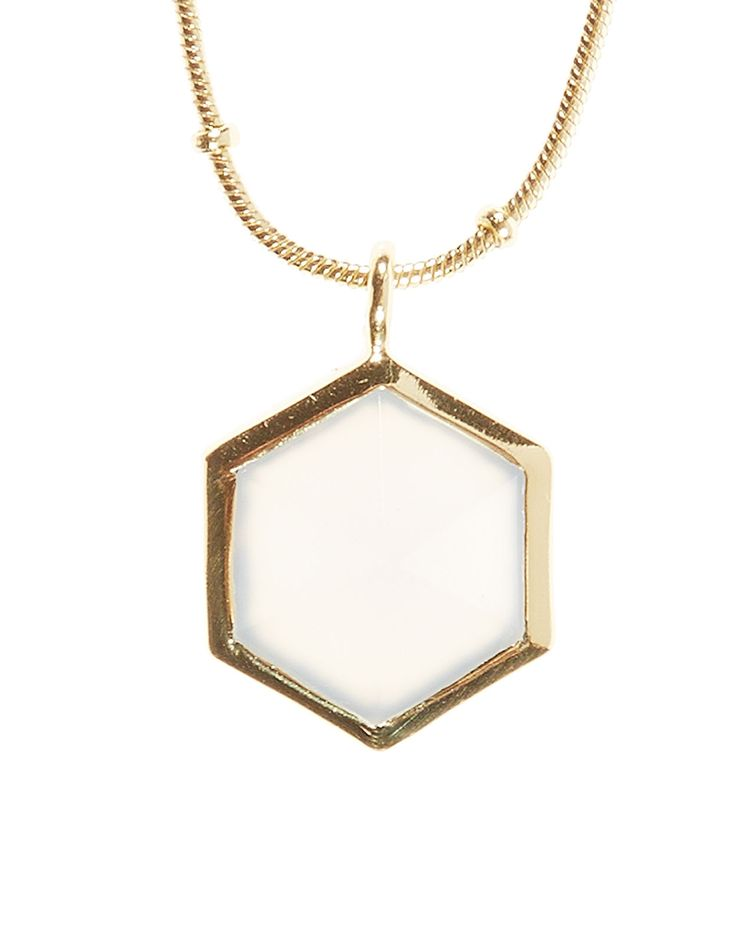 Kiki Hexagon Long Pendant Necklace