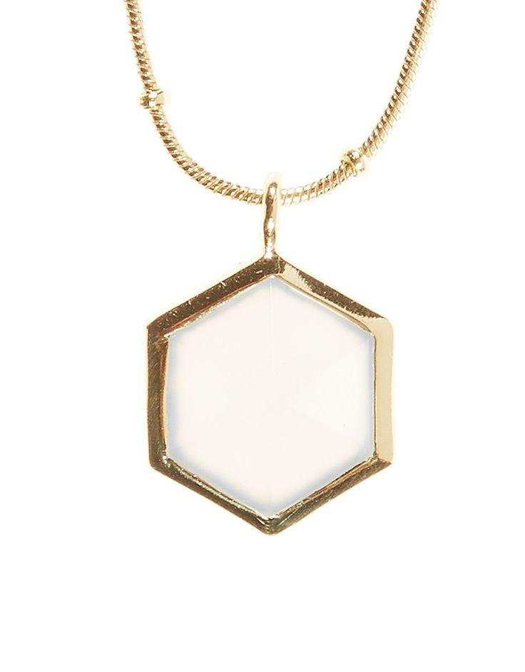Kiki Hexagon Long Pendant Necklace