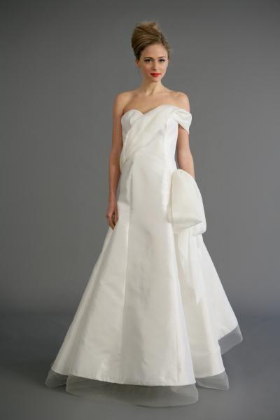 Robe de mariée princesse taffetas 2012
