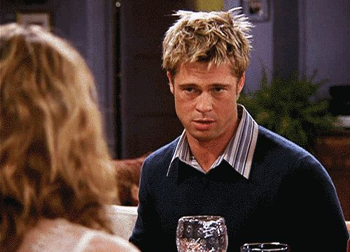 "The one where no one saw Brad Pitt's weight loss on Facebook. | 21 Things That Happened On ""Friends"" That Would Baffle Kids Today"