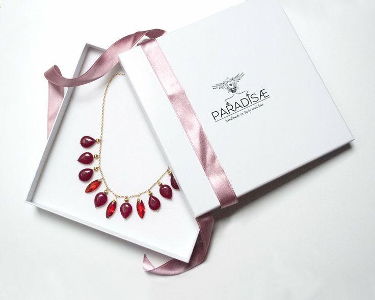 necklace Jade Garnet