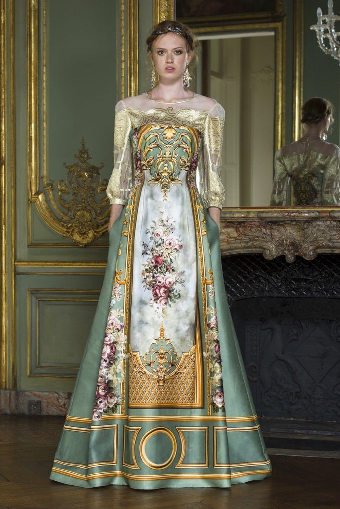 Runway #fashion: Alberta Ferretti's Fall15 couture collection was inspired by the former Rothschild mansion