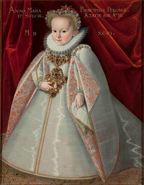 Portrait of Anna Maria Vasa (1593–1600), daughter of King Sigismund III of…