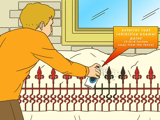 How to Prepare a Wrought Iron Fence for Painting: 7 Steps