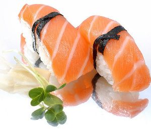 Salmon Nigiri Sushi Recipe, good idea to have as part of apps!! lol ~J
