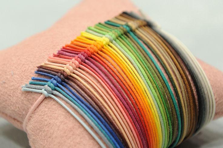 String rainbow!  Make your own bracelet here: http://lilouparis.com/en/configurator/bracelets