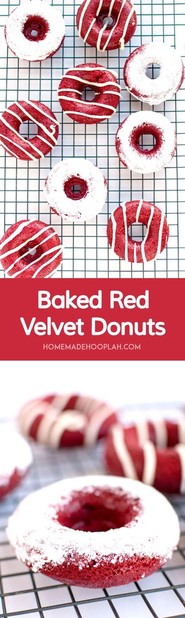 Donas horneadas red velvet, como postre para tu evento. #PostresParaEventos