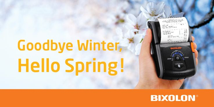 Goodbye Winter, Hello Spring! #SpringHasSprug #Bixolon #mobileprinter